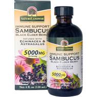 Natures Answer, Sambucus Immune, Black Elderberry Extract, 12000 mg, 4 fl oz (120 ml)