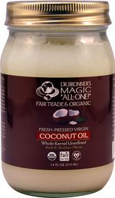 Dr. Bronners Organic Virgin Coconut Oil -- 14 fl oz