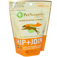 Pet Naturals of Vermont, Hip + Joint, For Medium and Large Dogs, 45 Chicken Liver Flavored Chews 8.73 oz (247.5 g)