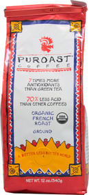 Puroast, Low Acid Organic Ground Coffee,  French Roast - 12 oz
