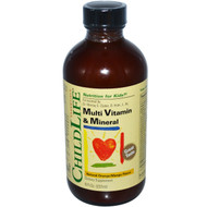 ChildLife, Essentials, Multi Vitamin & Mineral, Natural Orange/Mango Flavor, 8 fl oz (237 ml)