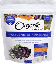 3 PACK of Organic Traditions Maca For Men With Probiotics -- 5.3 oz