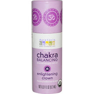 Aura Cacia, Organic Chakra Balancing Aromatherapy Roll-On, Enlightening Crown, 0.31 fl oz (9.2 ml)