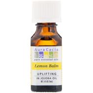 Aura Cacia, Pure Essential Oils, Lemon Balm, Uplifting, .5 fl oz (15 ml)