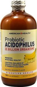American Health, Probiotic Acidophilus, Banana - 20 billion microorganisms - 16 fl oz