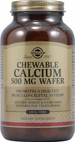Solgar Chewable Calcium - 500 mg - 120 Wafers
