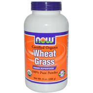 NOW Foods Certified Organic Wheat Grass Pure Powder - 9 oz