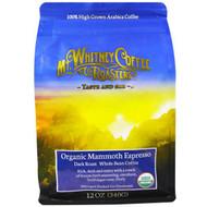 Mt. Whitney Coffee Roasters, Organic Mammoth Espresso, Dark Roast Whole Bean Coffee, 12 oz (340 g)