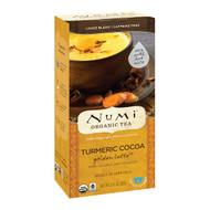 3 PACK OF Numi Tea, Organic Tea, Loose Tea, Turmeric Cocoa, Golden Latte, Caffeine Free, 2.12 oz (60 g)