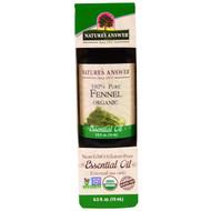 Natures Answer, Organic Essential Oil, 100% Pure Fennel, 0.5 fl oz (15 ml)