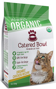 Catered Bowl Always Organic Premium Dry Cat Food Chicken Recipe - 3 lbs