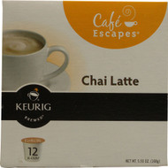 Green Mountain Coffee, Cafe Escapes Tea,  Chai Latte - 12 K-Cups