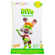 Vitamin Friends, DiYo Vitamin D, Banana/Vanilla, 20 Bears