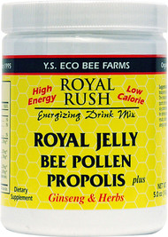 Y.S. Eco Bee Farms, Royal Rush Energizing Drink Mix, Royal Jelly, Bee Pollen, Propolis Plus Ginseng & Herbs, 5.0 oz (143 g)