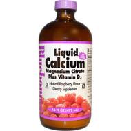 Bluebonnet Nutrition Liquid Calcium Magnesium Citrate Plus Vitamin D3 Natural Raspberry - 16 fl oz
