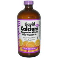 Bluebonnet Nutrition Liquid Calcium Magnesium Citrate Plus Vitamin D3 Natural Orange - 16 fl oz