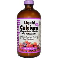 Bluebonnet Nutrition Liquid Calcium Magnesium Citrate Plus Vitamin D3 Natural Mixed Berry - 16 fl oz