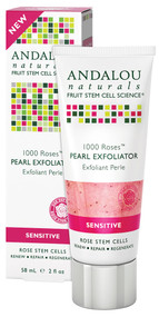 Andalou Naturals, Pearl Exfoliator, Sensitive, 1000 Roses, 2 fl oz (58 ml)