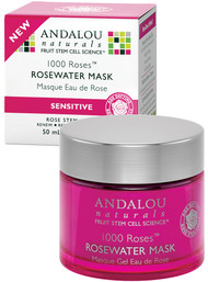 Andalou Naturals, 1000 Roses, Rosewater Mask, Sensitive, 1.7 oz (50 g)