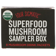 3 PACK OF Four Sigmatic, Superfood Mushroom Sampler Box, 8 Mushroom Drink Packets