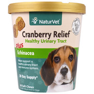 NaturVet, Cranberry Relief For Dogs Plus Echinacea, 60 Soft Chews, 6.3 oz (180 g)