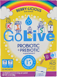 GoLive Kids! Probiotic plus Prebiotic Drink Mix  Berry-Licious - 10 Packets