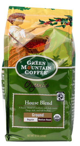 Green Mountain Coffee, Organic Ground Coffee Medium Roast,  House Blend - 10 oz