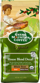 Green Mountain Coffee, Organic Whole Bean Coffee Medium Roast House Blend - 10 oz