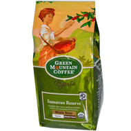Green Mountain Coffee, Organic Whole Bean, Sumatran Reserve, Regular, Medium Roast, 10 oz (283 g)