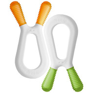 Zoli, Bunny, Dual Nub Teethers, Orange & Green, +6 mo, 2 Pieces