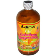 Life Time, Kids Calcium Magnesium Citrate, Natural Mixed Fruit Flavor, 16 fl oz (473 ml)