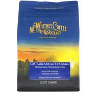 Mt. Whitney Coffee Roasters, Costa Rica Estate Tarrazu, Medium Plus Roast, Whole Bean Coffee, 12 oz (340 g)