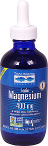 Trace Minerals Research Ionic Magnesium Dietary Supplement -- 400 mg - 4 fl oz