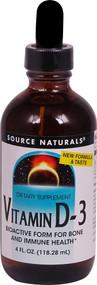 Source Naturals Vitamin D-3 Liquid -- 4 fl oz