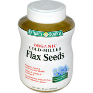 Nature's Bounty, Organic Cold-Milled Flax Seeds, 15 oz (425 g)