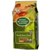 Green Mountain Coffee, Organic Whole Bean French Roast Decaf, Dark Roast, 10 oz (283 g)