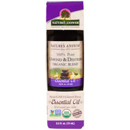 Natures Answer, 100% Pure, Organic Blend Essential Oil, Unwind & Destrees , 0.5 fl oz (15 ml)