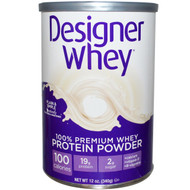 Designer Protein Premium Natural Whey Protein Powder Unflavored -- 12 oz