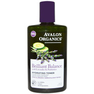 Avalon Organics, Brilliant Balance, Hydrating Toner, With Lavender & Prebiotics, 8 fl oz (237 ml)