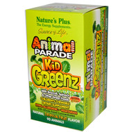 Natures Plus, Source of Life, Animal Parade, Kid Greenz, Natural Tropical Fruit Flavor, 90 Animals