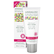 Andalou Naturals, Facial Lotion, 1000 Roses, Daily Shade, SPF 18, Sensitive, 2.7 fl oz (80 ml)