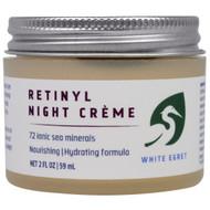 White Egret Personal Care, Retinyl Night Cream, 2 fl oz (59 ml)