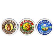 Badger Company, Organic, Badger Balm Sampler, 3 Pack Set - .75 oz (21 g) Each