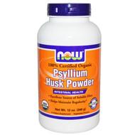 Now Foods, 100% Certified Organic, Psyllium Husk Powder, 12 oz (340 g)