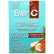 Ener-C, Vitamin C, Effervescent Powdered Drink Mix, Pineapple Coconut, 30 Packets, 9.7 oz (274.8 g)