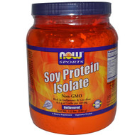 Now Foods, Sports, Soy Protein Isolate, Natural Unflavored, 1.2 lbs (544 g)