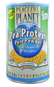 VegLife, Peaceful Planet Pea Protein Pure Powder,  Unflavored - 15.4 oz