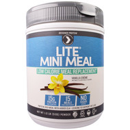 Designer Protein, Lite Mini Meal Low Calorie Meal Replacement Powder, Vanilla Creme , 1.12 lb (510 g)