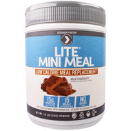 Designer Protein, Lite, Mini Meal Low Calorie Meal Replacement Powder, Milk Chocolate, 1.12 lb (510 g)