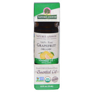 Natures Answer, Organic Essential Oil, 100% Pure Grapefruit, 0.5 fl oz (15 ml)